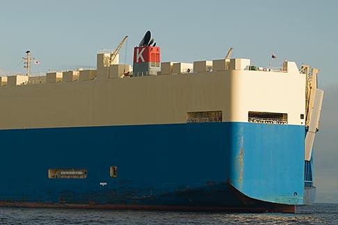 image 7-675-8502 Japan, Yokohama, Car Carrier in Yokohama harbor