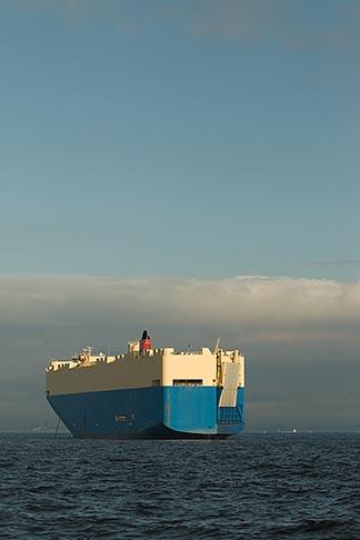 image 7-675-8513 Japan, Yokohama, Car Carrier in Yokohama harbor