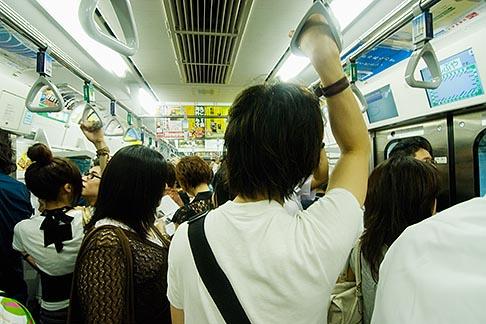 image 7-680-8577 Japan, Tokyo, Passengers on Tokyo Metro