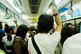 horizontal stock photography | Japan, Tokyo, Passengers on Tokyo Metro, image id 7-680-8577
