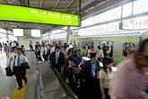 horizontal stock photography | Japan, Tokyo, Passengers, Tokyo Metro, image id 7-680-8602