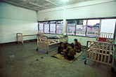 bed stock photography | Laos, Vang Vieng Hospital, Patients eating, image id 8-580-5