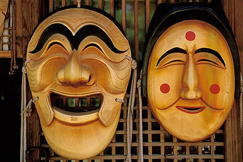 image 2-681-43 South Korea, Hahoe Village, Wooden masks, Yangban and Pune