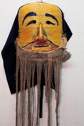 image 2-681-67 South Korea, Hahoe Village, Yeachon Chongdan Norom Tal mask  Winter