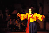 theatre stock photography | South Korea, Andong , Mask Dance Festival, Hahoe Pyolshingut Mask Dance, image id 2-700-40