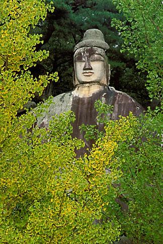 image 2-700-9 South Korea, Andong, Stone Buddha statue, Icheon Dong