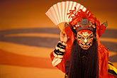 costumed dancers stock photography | South Korea, Andong , Mask Dance Festival, Chinese Monam mask dance, image id 2-701-70