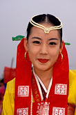 smiling woman stock photography | South Korea, Andong , Mask Dance Festival, Girl in traditional dress, image id 2-701-76