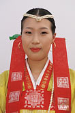 solo portrait stock photography | South Korea, Andong , Mask Dance Festival, Girl in traditional dress, image id 2-701-77