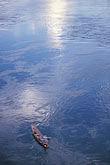 dusk stock photography | Laos, Vientiane Province, Fisherman on the Nam Ngum, image id 8-571-32