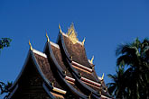 temple roof stock photography | Laos, Luang Prabang, Haw Pha Bang pavilion, image id 8-605-29