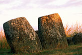 archeology stock photography | Laos, Plain of Jars, Jars at dawn, Site 1, image id 8-620-3