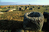 plain stock photography | Laos, Plain of Jars, Stone jars at dawn, Thang Hai Hin, image id 8-621-58