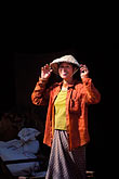 hinh heub village stock photography | Laos, Vientiane Province, Woman with hat, image id 8-630-14