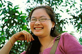 eyesight stock photography | Laos, Phon Kham, Young woman, image id S3-152-12