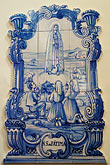 portuguese tiles stock photography | Religious Art, Tile, Our Lady of Fatima, image id 5-394-27