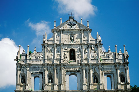 image 5-405-40 Macau, Ruins of St Pauls Cathedral
