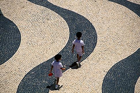 image 5-407-11 Macau, Portuguese tiles, Leal Senado Square