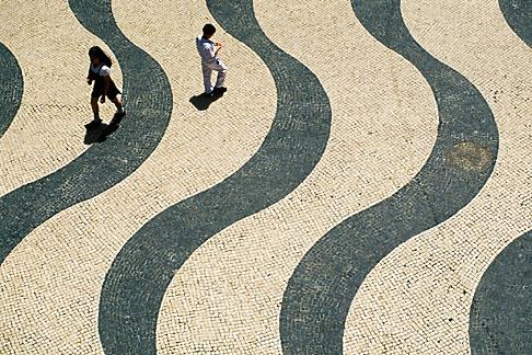 image 5-407-4 Macau, Portuguese tiles, Leal Senado Square