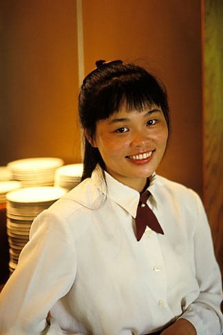 image 5-411-6 Macau, Waitress,Balichao restaurant