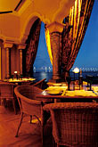 table setting stock photography | Macau, Mezzaluna restaurant, view of Taipa bridge, image id 5-416-33