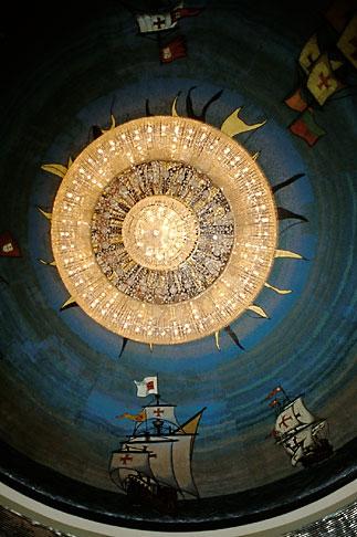 image 5-437-29 Macau, Hotel Lisboa, colonial ships, lobby ceiling painting