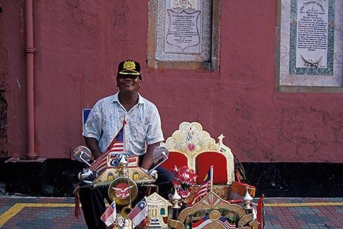 image 7-575-30 Malaysia, Malacca, Bicycle rickshaw