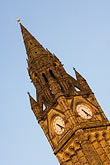vertical stock photography | England, Manchester, Town Hall clock tower, image id 7-690-7189