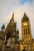 vertical stock photography | England, Manchester, Town Hall, image id 7-695-110