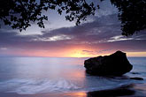sunset at beach stock photography | Martinique, Anse C�ron, Beach at sunset, image id 8-239-29