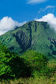 lush stock photography | Martinique, Le Precheur, View of Mt. Pel�e volcano, image id 8-241-29
