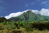 blue sky stock photography | Martinique, Le Precheur, View of Mt. Pel�e, image id 8-244-19