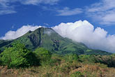 blue sky stock photography | Martinique, Le Precheur, View of Mt. Pel�e volcano, image id 8-244-8
