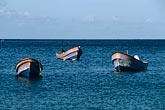 trio stock photography | Martinique, Route des Anses, Fishing Boats, Petite Anse, image id 8-258-13