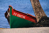 green stock photography | Martinique, Route des Anses, Fishing Boat, Petite Anse, image id 8-258-23