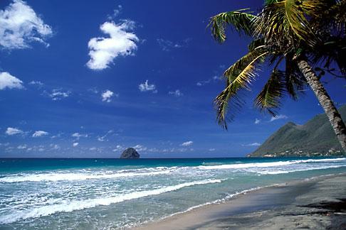 image 8-263-4 Martinique, Le Diamant, Beach and Rocher du Diamant