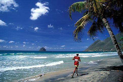 image 8-263-5 Martinique, Le Diamant, Beach and Rocher du Diamant