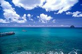 dock and rocher du diamant stock photography | Martinique, Le Diamant, Dock and Rocher du Diamant, image id 8-265-4