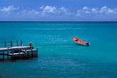 turquoise water stock photography | Martinique, Le Diamant, Dock and fishing boat, image id 8-265-9