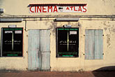 theater signs stock photography | Martinique, Route des Anses, Cinema Atlas, Les Anses d