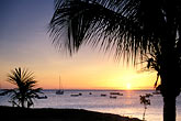 sunset at beach stock photography | Martinique, Schoelcher, Sunset at beach, image id 8-275-35