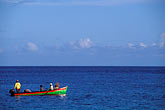in a row stock photography | Martinique, Le Carbet, Fishermen in boat, image id 8-278-15