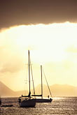 dusk stock photography | Martinique, Ste. Anne, Sailboat in harbor, image id 8-282-5
