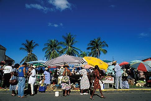 image 8-288-13 Martinique, St Pierre, Market scene