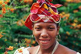 travel stock photography | Martinique, Martinican woman in traditional dress, image id 8-295-2