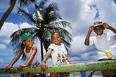 three girls stock photography | Martinique, Children at playground, image id 8-298-30