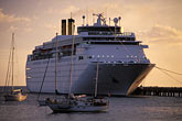 dusk stock photography | Martinique, Fort de France, Cruise ship at dock, image id 8-300-15