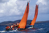 sailboat stock photography | Martinique, Yoles rondes racing, image id 8-311-20
