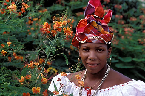 image 8-314-30 Martinique, Fort de France, Martinican woman in traditional dress