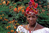 one woman only stock photography | Martinique, Fort de France, Martinican woman in traditional dress, image id 8-314-30